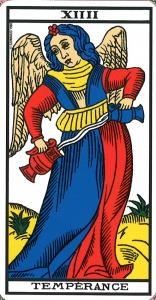 La tempérance - carte de tarot de marseille