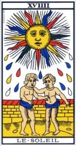 Le soleil - carte gratuite tarot divinatoire