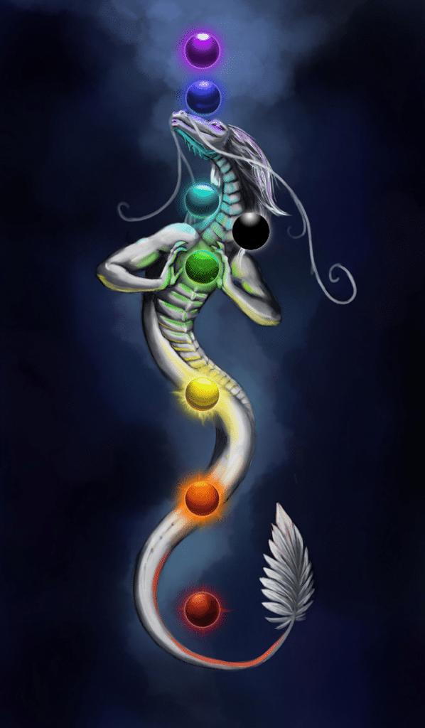 Kundalini chakra serpent