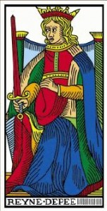 la reine carte arcane tarot