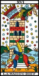 La maison dieu au tarot