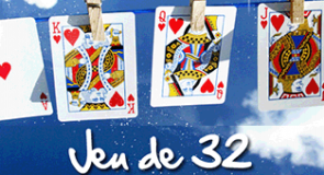 Le jeu de 32 de cartes
