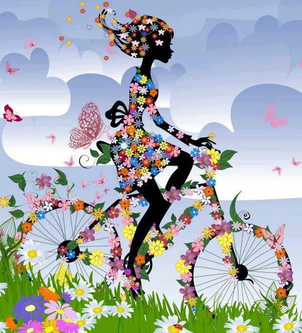 j'aime le printemps en vélo