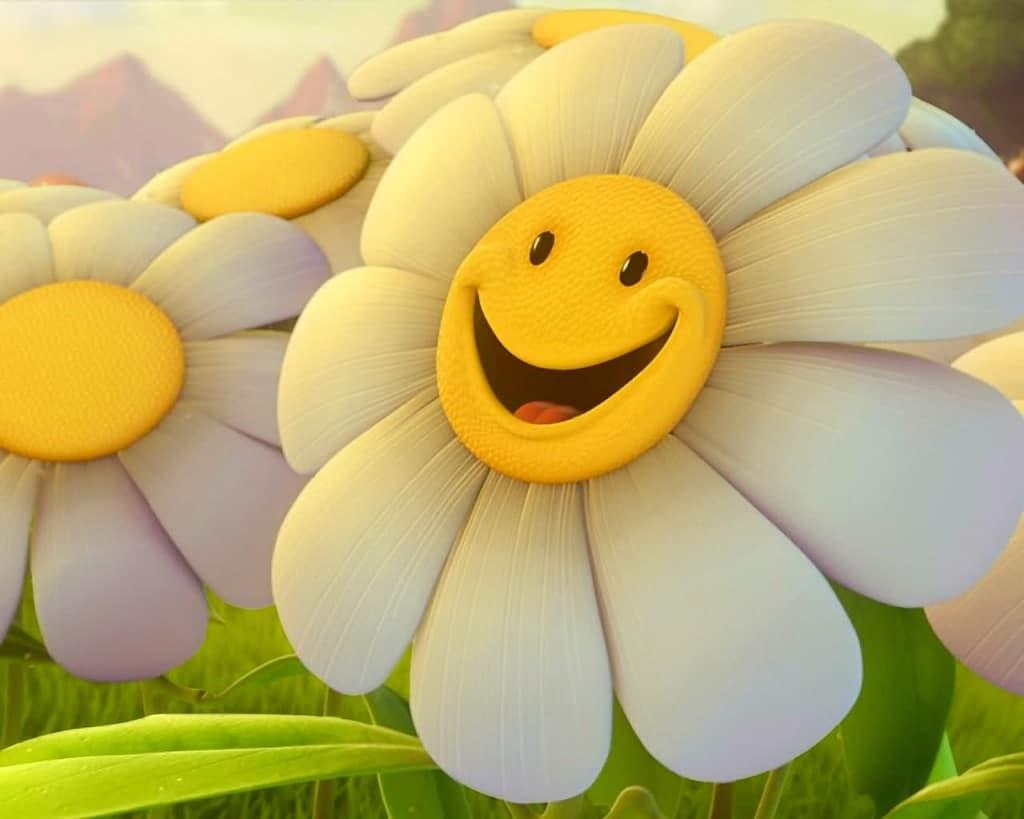 sourire positif fleur