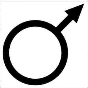 symbole planète mars