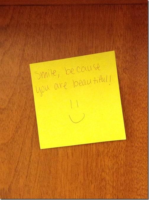 sourire pensée positive