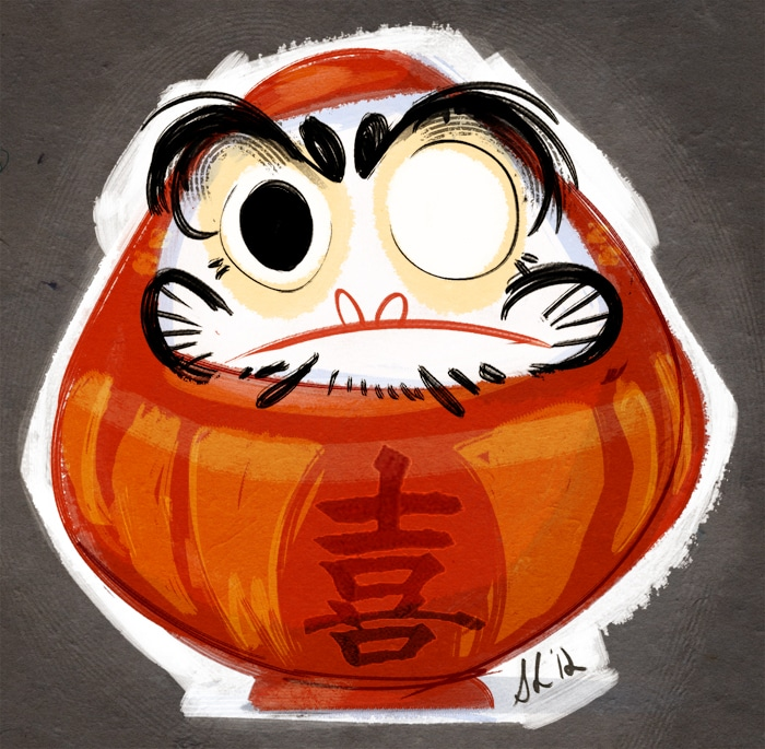 superstition poupée daruma