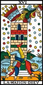 La Tour ou la Maison-Dieu – Tarot de Marseille