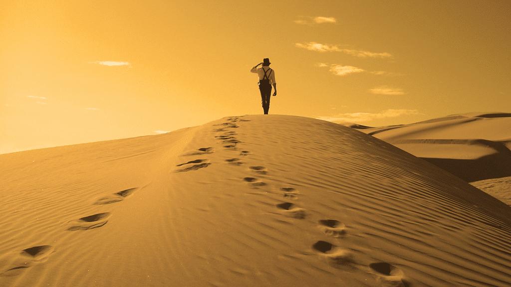 désert homme